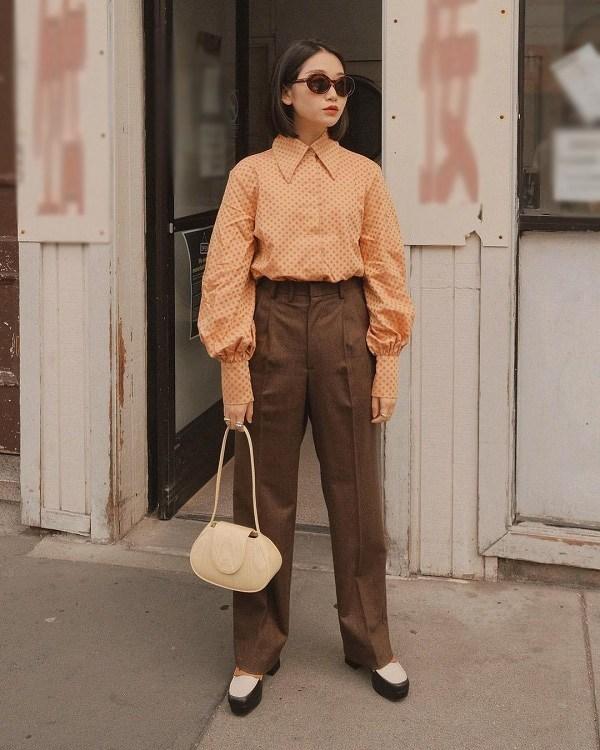 Tăng cân sau mấy ngày Tết, đây là những kiểu trang phục giúp nàng giấu bụng khi đi làm - 9