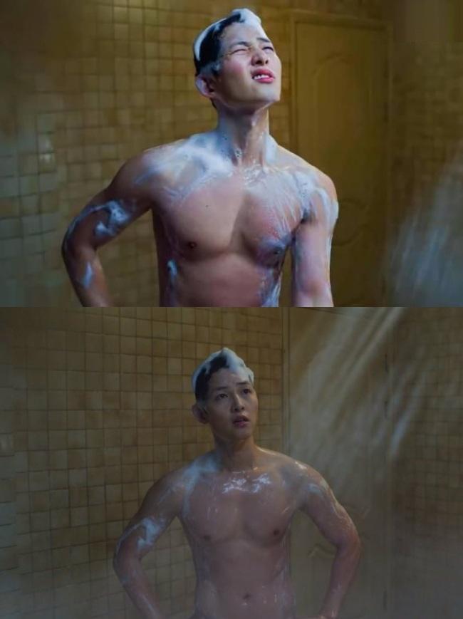 Song Hye Kyo khoe sắc trên tạp chí, Song Joong Ki amp;#34;phản đònamp;#34; phô diễn body lực lưỡng trong phim - 9