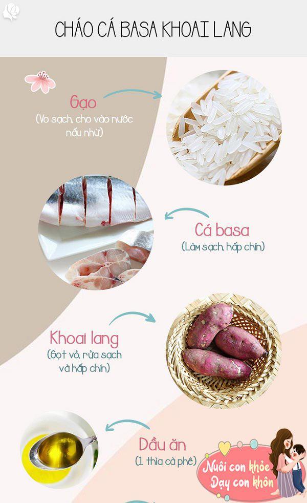 5 cách nấu cháo cá basa cho bé ăn dặm dễ làm, trẻ còi mấy cũng tăng cân vù vù