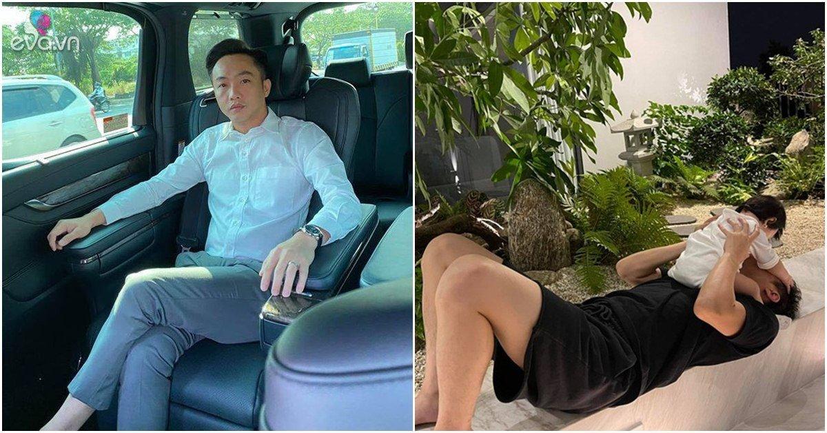 Đàm Thu Trang khoe ảnh Cường Đô La quần đùi nằm đất kiệu con gái rượu lên cổ xin hôn