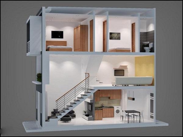 Mẫu nhà gác lửng đẹp, hiện đại nhất 2021 với giá thành rẻ - 3