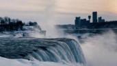 Cảnh tượng ngoạn mục khi thác nước hùng vỹ nhất Bắc Mỹ đóng băng