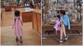 Con gái Tăng Thanh Hà điệu đà đáng yêu: mặc đầm hoa, chân xỏ cao gót của mẹ