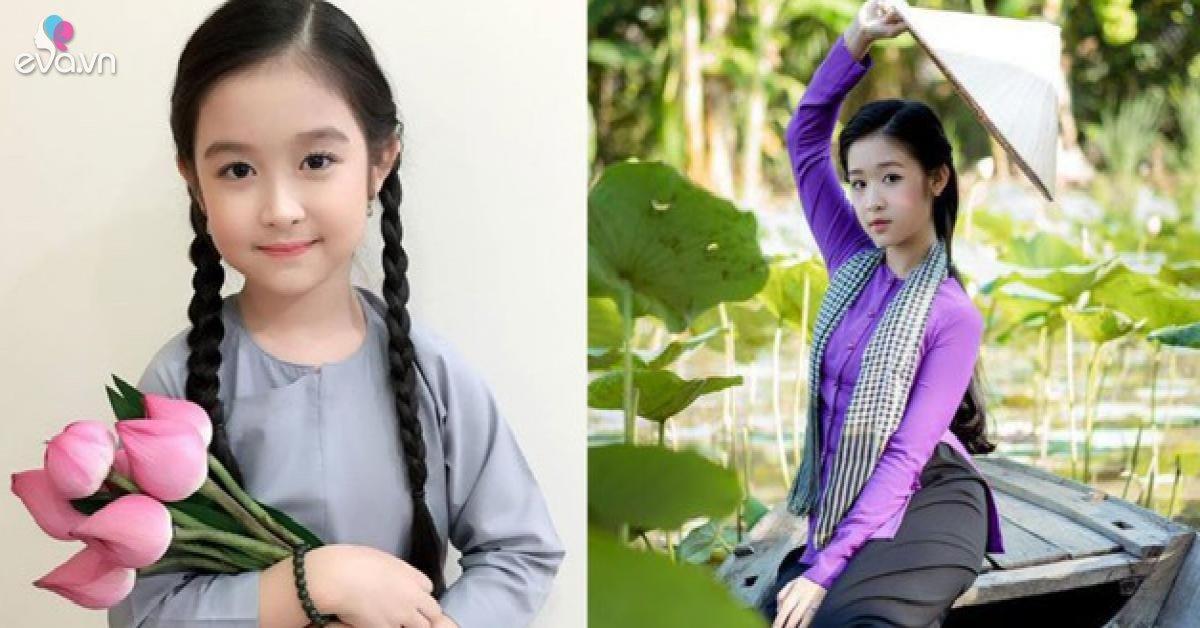 Hoa khôi nhí Tây đô diện lại áo lụa truyền thống sau 4 năm, vóc dáng đổi thay