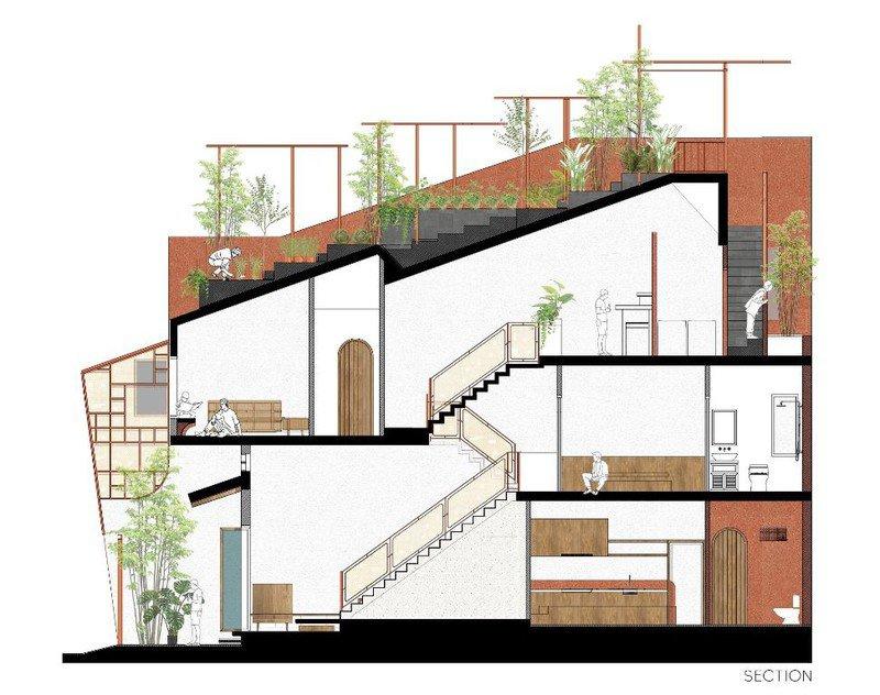 Ấn tượng với ngôi nhà có vườn rau trên mái dốc - 16