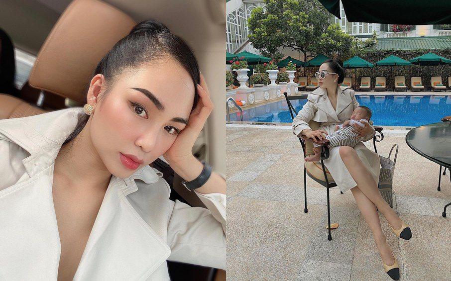 Mẹ của Ming Ha khoe lông mày và lông mi nhưng làn da căng bóng và gợn sóng - 3