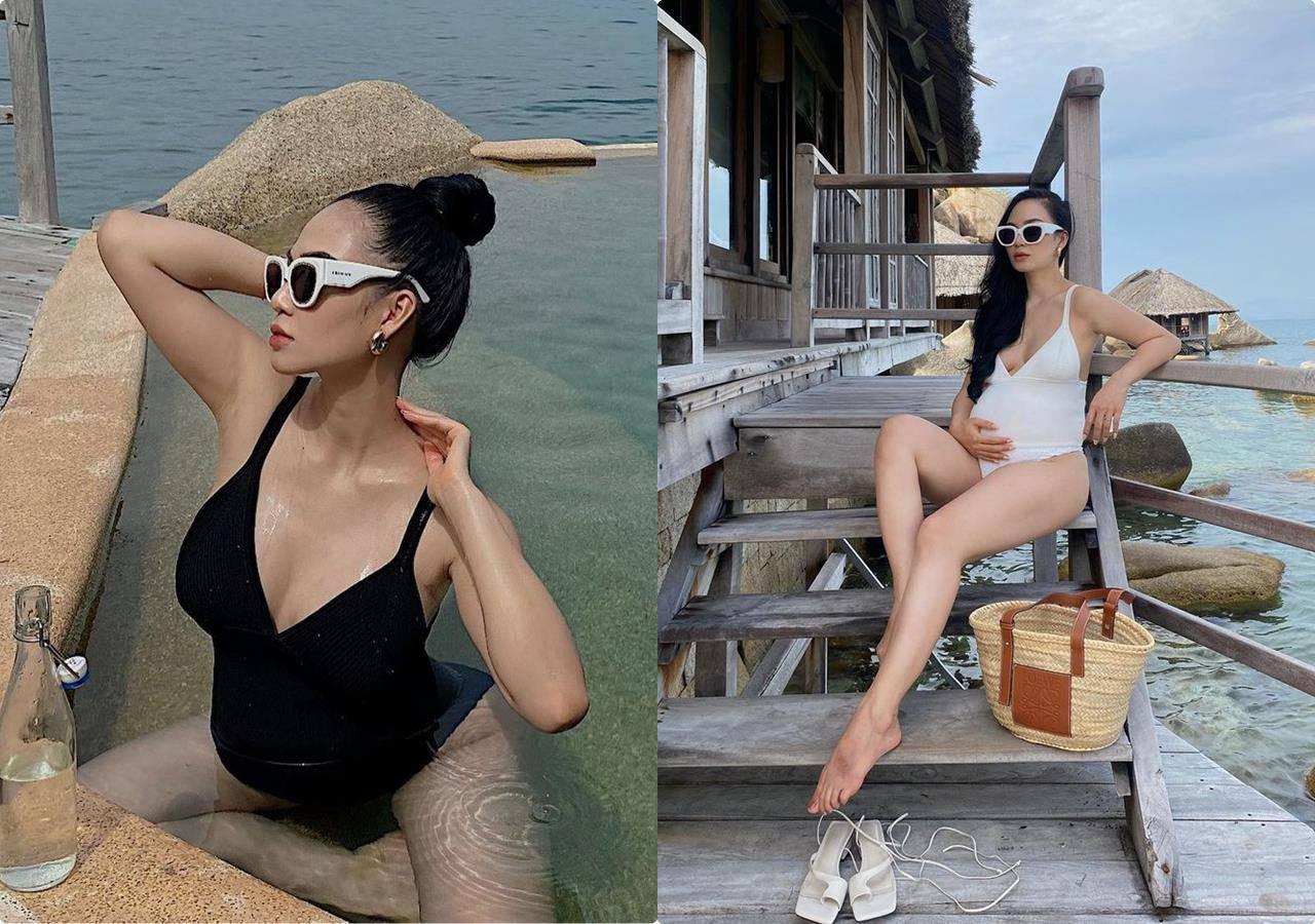 Mẹ Min Ha khoe lông mày rậm nhưng làn da căng bóng, sóng sánh - 8