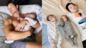 """Muôn kiểu """"gục ngã"""" lúc trông con của các ông bố Vbiz: Dương Khắc Linh """"thấy thương"""" hơn Kim Lý"""