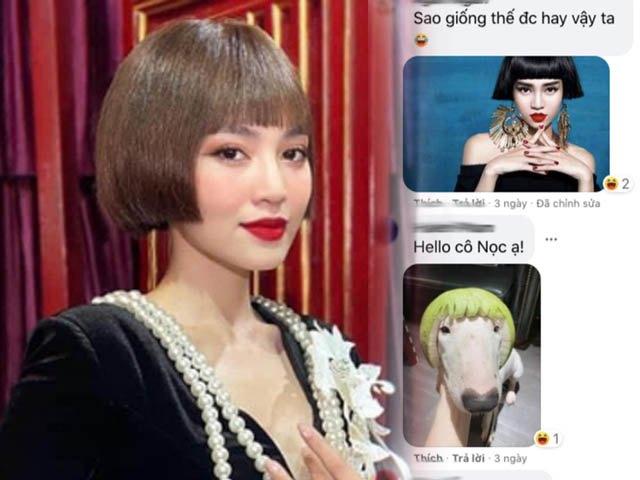 Lan Ngọc để mái tóc cúp, dân mạng tiện tay ghép thêm 1001 kiểu phụ họa