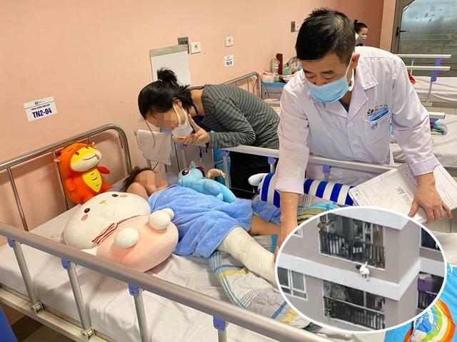 Bé gái 3 tuổi bị rơi từ tầng 12A chung cư dự kiến sẽ được xuất viện vào ngày mai