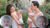 Hồ Ngọc Hà tung ảnh cặp song sinh tròn 4 tháng tuổi, dễ dàng phân biệt Leon - Lisa