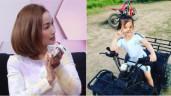 """Ốc Thanh Vân """"choáng"""" trước độ ngầu của nữ biker nhí hiếm có Việt Nam"""