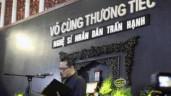 Xúc động giây phút các nghệ sĩ rơi nước mắt trong lễ truy điệu NSND Trần Hạnh