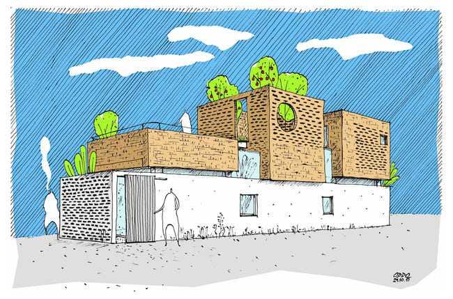 amp;#34;Thích mêamp;#34; căn nhà gạch mộc mạc, có vườn cây xanh mát giữa Hà Nội xô bồ - 7