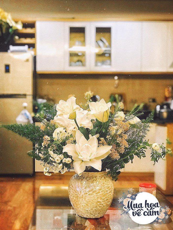 Mẹ Việt biến nhà rực sắc đón ngày 8/3, khoe muôn kiểu cắm hoa đẹp rụng rời - 16