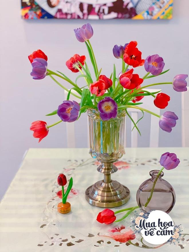 Mẹ Việt biến nhà rực sắc đón ngày 8/3, khoe muôn kiểu cắm hoa đẹp rụng rời - 11