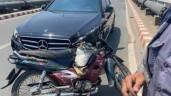 """Người đi xeMercedes trong clip """"Dừng xe nhặt tiền rơi gây tai nạn"""" lên tiếng"""