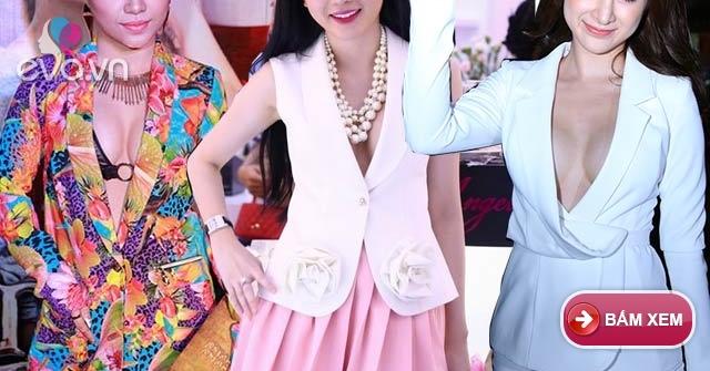 Sao Việt thích thú khoe vòng 1 với áo vest