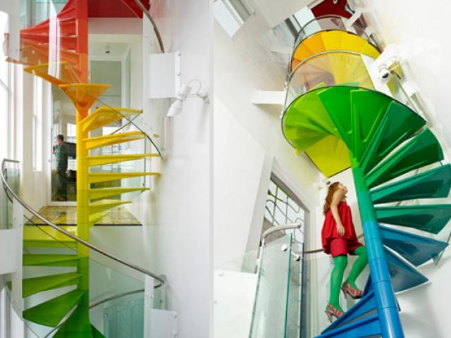 Đến thượng đế cũng phải tròn mắt trước những thiết kế cầu thang siêu sáng tạo này