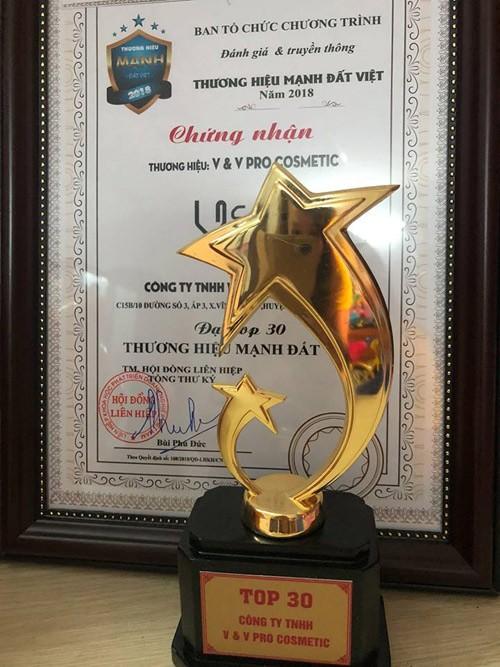 v&v pro cosmetic vinh du lot top 30 thuong hieu manh dat viet 2018 - 5
