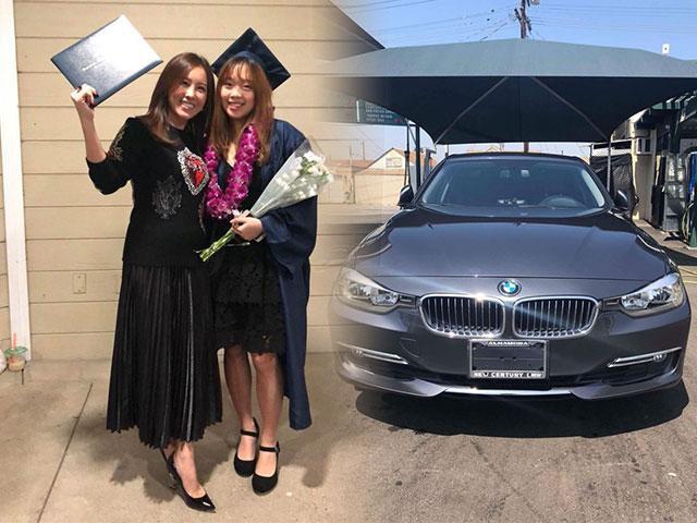 Con gái HH Thu Hoài được mẹ tặng xe hơi tiền tỷ nhân ngày tốt nghiệp