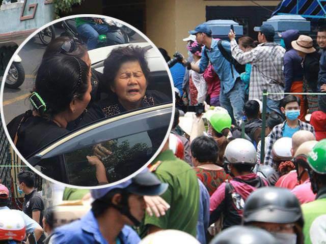 Đám tang cố nghệ sĩ Anh Vũ: Mẹ già nhập viện, đám đông hiếu kỳ chụp ảnh gây bức xúc