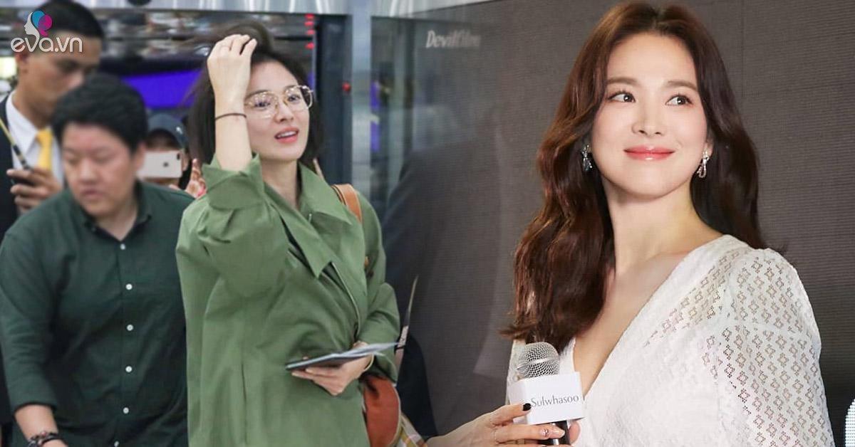Song Hye Kyo liên tục lấy áo khoác che bụng: Như một thói quen hay cố gắng giấu điều gì?