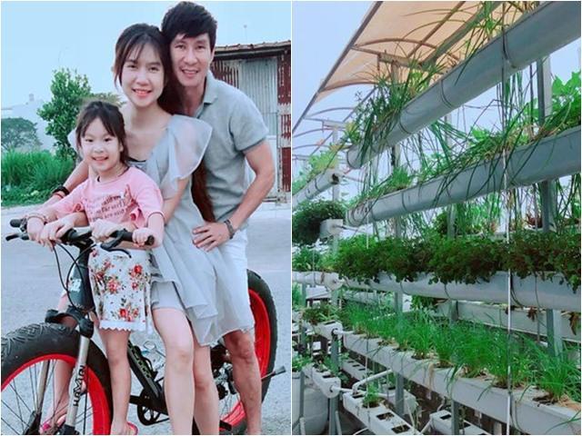 Chán nhà gỗ 40 tỷ, Lý Hải Minh Hà chuyển về biệt thự nhà vườn đẹp như resort