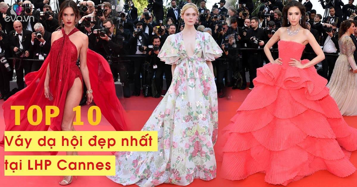 10 mẫu váy dạ hội được ví như tuyệt tác thời trang đẹp đến nao lòng tại LHP Cannes