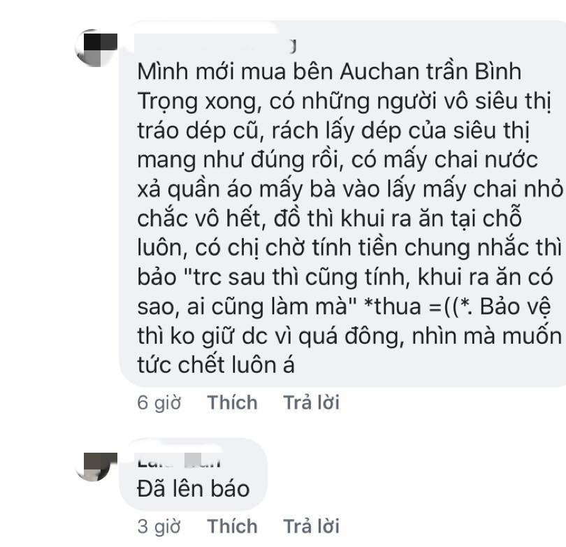 canh tuong con sot lai tai sieu thi auchan: khach than nhien khui do an, tranh cuop hang hoa - 7
