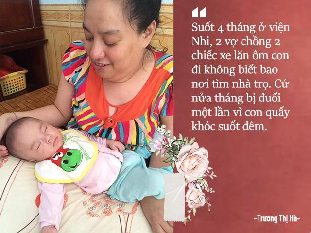 sinh con khong co hau mon, vo chong khuyet tat thanh hoa chat vat ve sinh cho con 30 lan/ngay - 7