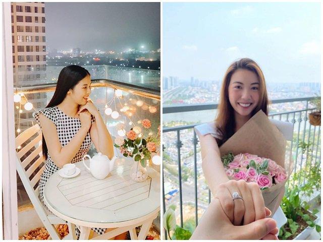 2 nàng hậu chuẩn bị lên xe hoa: Ngọc Hân có 2 căn nhà, Thúy Vân ở penthouse rộng 400m2