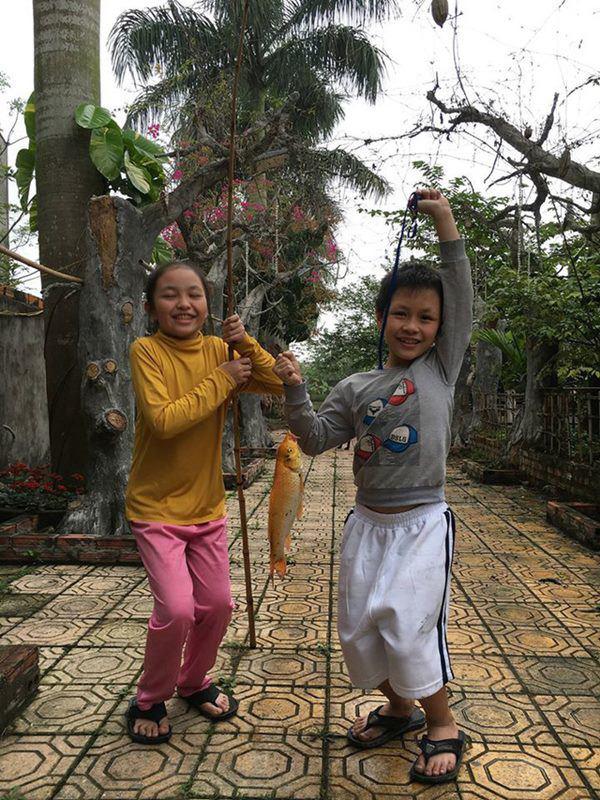 Nghệ sĩ Giang Còi về quê ở nhà vườn 10.000m2 ngập rau trái, sáng ra hái mang đi cho - Ảnh 13.