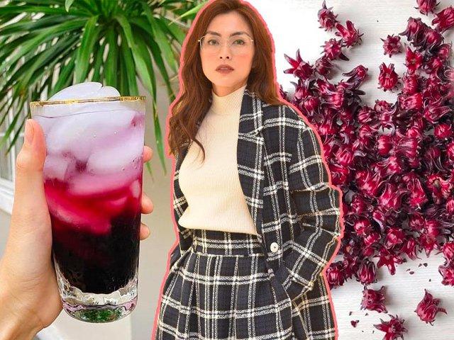 Thức uống có màu đỏ như máu, nhưng giúp Tăng Thanh Hà ngày càng nâng tầm nhan sắc