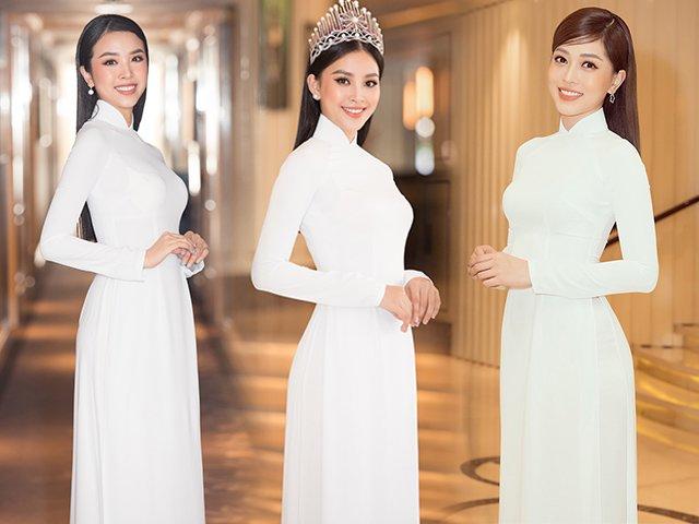 Chẳng váy áo lộng lẫy, dàn Hoa hậu Việt Nam diện áo dài trắng mỏng manh, ai đẹp nhất?