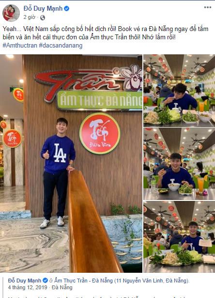 Duy Mạnh ước gì được bay ra Đà Nẵng ngay để thưởng thức ẩm thực Trần - 1