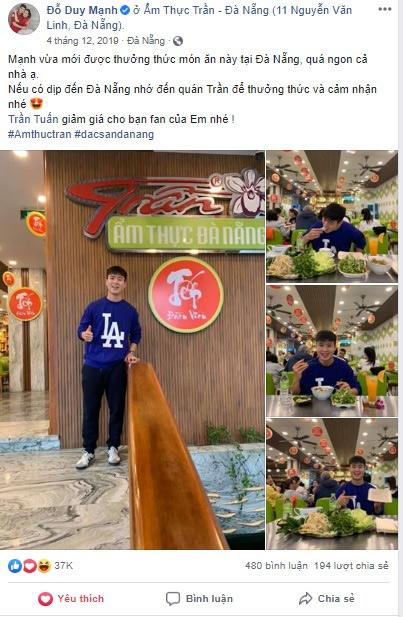 Duy Mạnh ước gì được bay ra Đà Nẵng ngay để thưởng thức ẩm thực Trần - 4