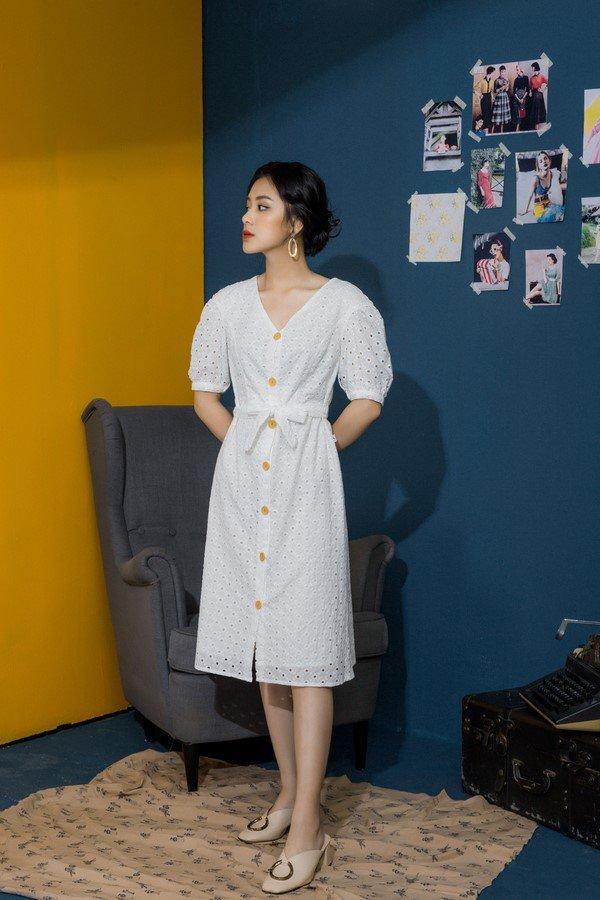 Mẹo chọn váy liền theo vóc dáng để nàng ghi điểm trong mắt đồng nghiệp - ảnh 17