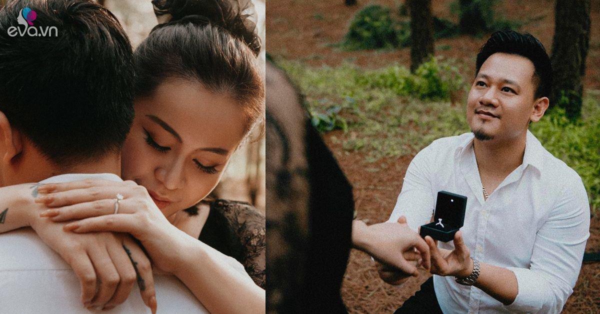 Yêu nữ Vũ Hạnh Nguyên được nhạc sĩ Nguyễn Đức Cường quỳ gối cầu hôn trong rừng thông