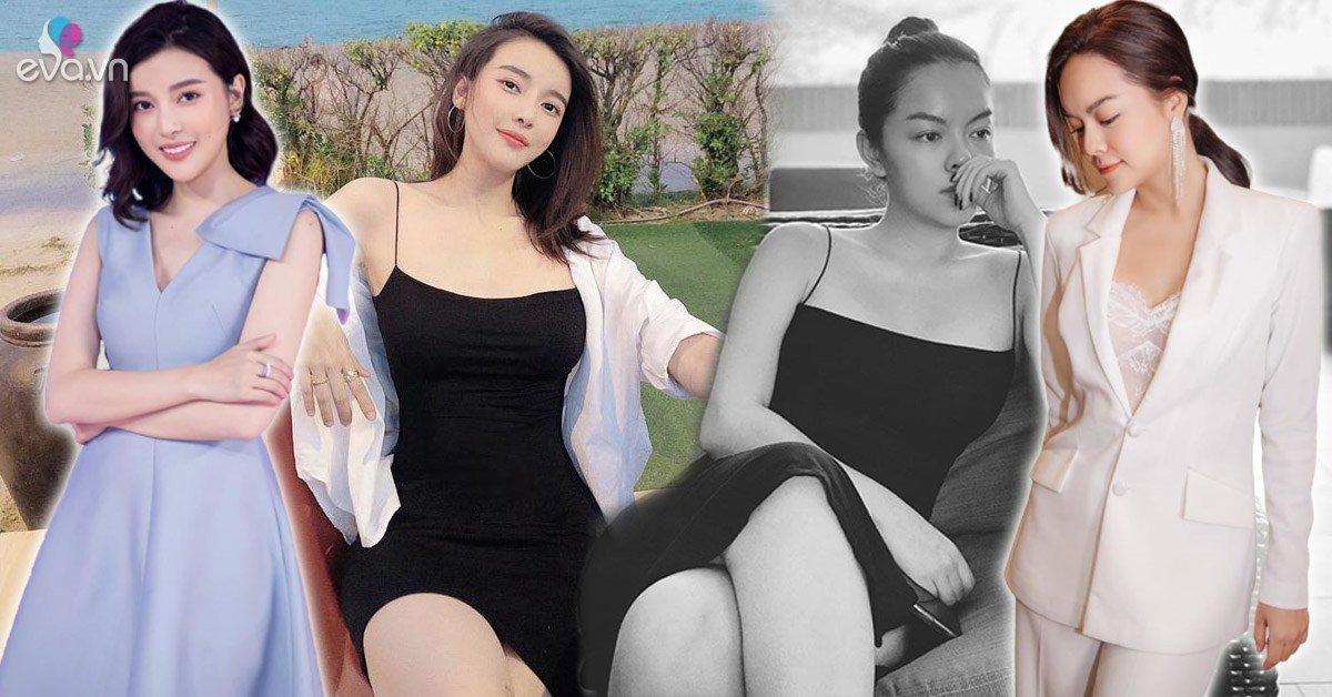 """""""Lăng xê"""" đầm dây mỏng dính: Phạm Quỳnh Anh mặc nhà, Cao Thái Hà diện đi du lịch"""