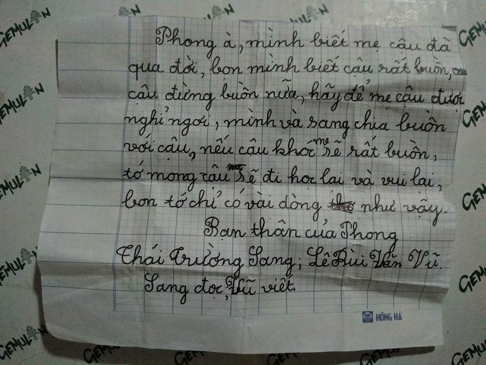 Lá thư gửi bạn thân vừa mất mẹ của hai bé trai 8 tuổi, ai đọc cũng rưng rưng