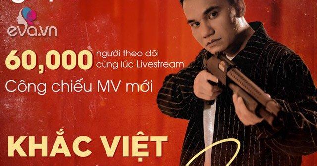 Hot: 60.000 người theo dõi cùng lúc livestream công chiếu MV mới của Khắc Việt trên mạng xã hội Gapo