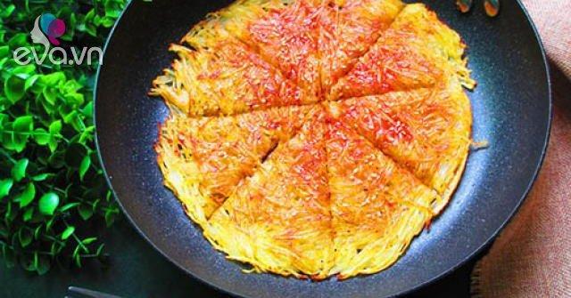 Không xào hay nấu canh, đem khoai tây làm bánh kiểu này 5 phút là có ngay bữa sáng