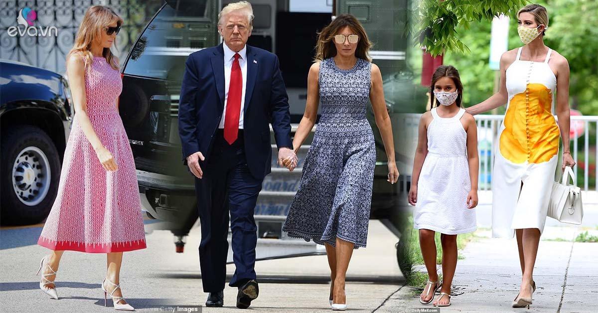 Xúng xính váy đầm, đệ nhất phu nhân Mỹ trẻ đẹp lấn át con gái TT Trump