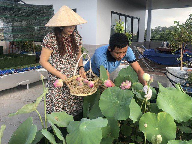 Bố Sài Gòn biến sân thượng thành vườn rau, ăn không hết phải nài nỉ hàng xóm sang lấy về - 12