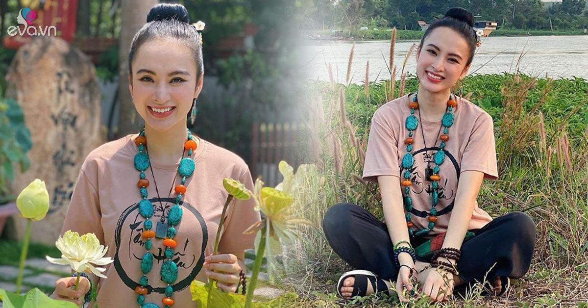 Không tô mắt xanh môi đỏ, Angela Phương Trinh trang điểm nhẹ nhàng vẫn đẹp tựa tiên nữ