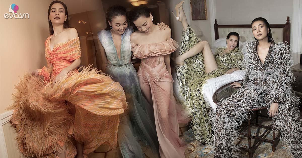 Diện thiết kế Công Trí, Hà Hồ cùng Thanh Hằng nắm tay nhau chiếm sóng Vogue Pháp