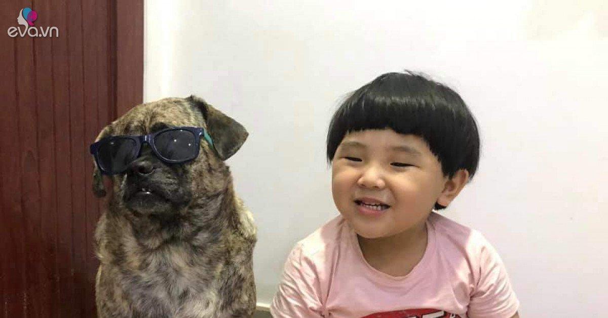 Cậu bé đầu nấm và chú chó mặt dữ khiến dân mạng ''điên đảo'' vì độ dễ thương