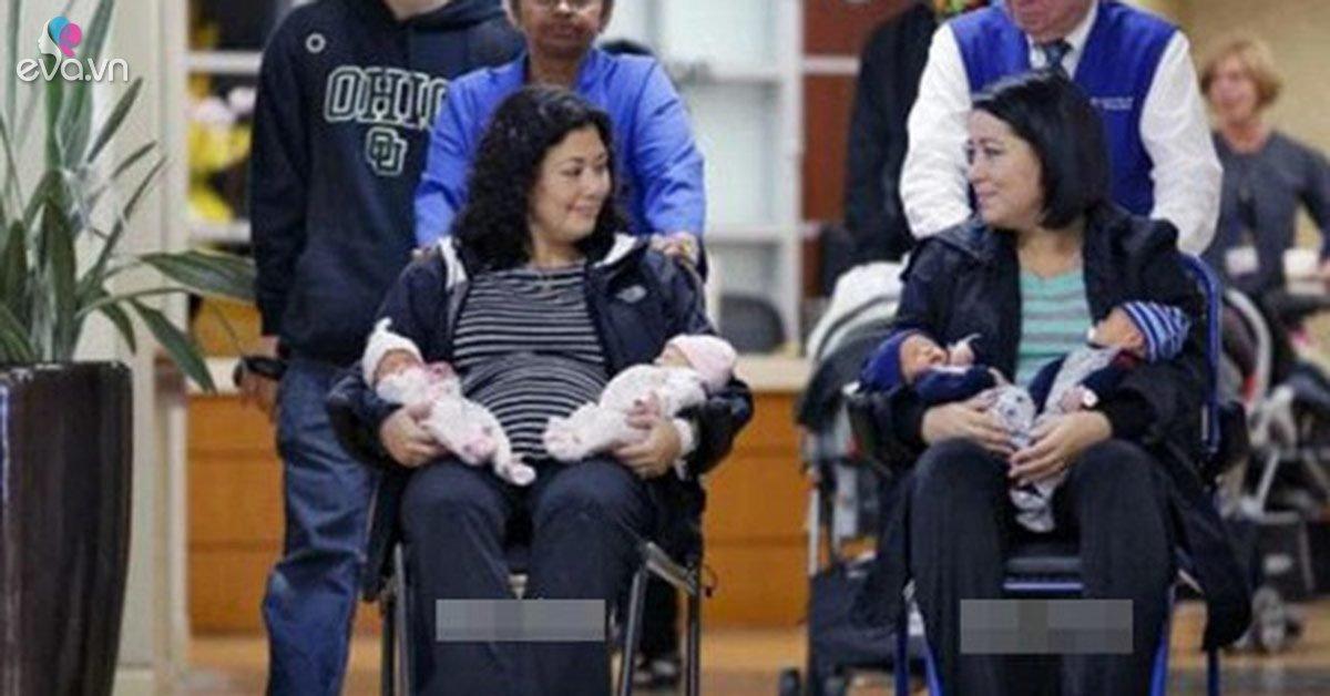 Hai chị em ruột đẻ đôi cùng một ngày, nhận dạng xác nhận 4 đứa trẻ cùng một cha