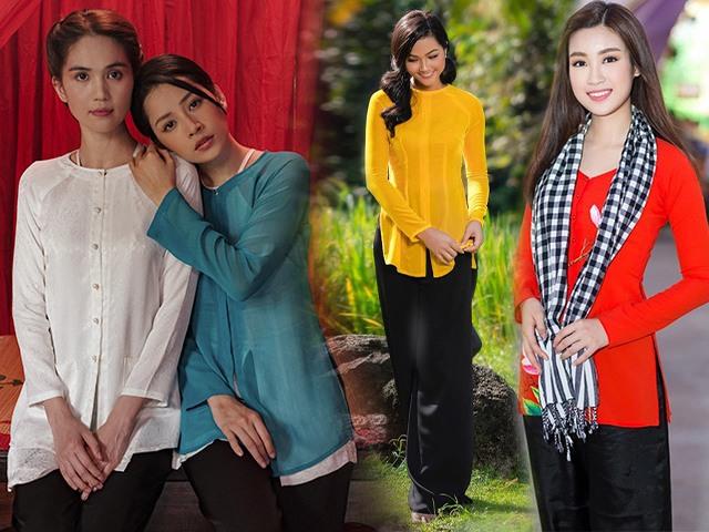 Chiếc áo bà ba biến phái đẹp trở nên dịu dàng đoan trang, kể cả Chi Pu hay Ngọc Trinh